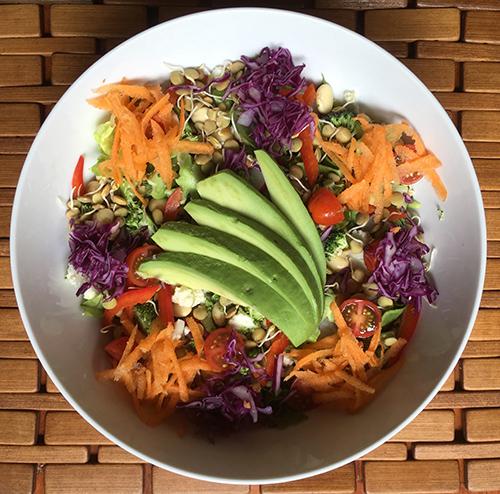 raw food yoga retreat menu