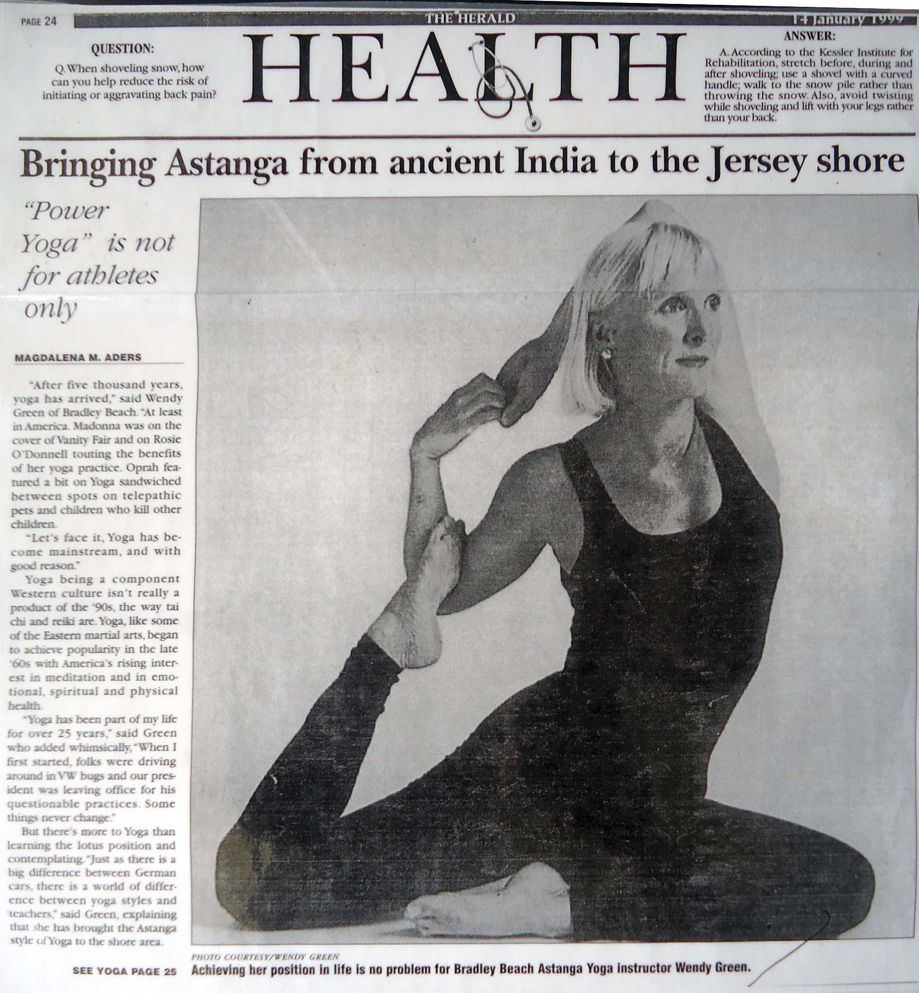 Wendy Green Yoga Press Kit