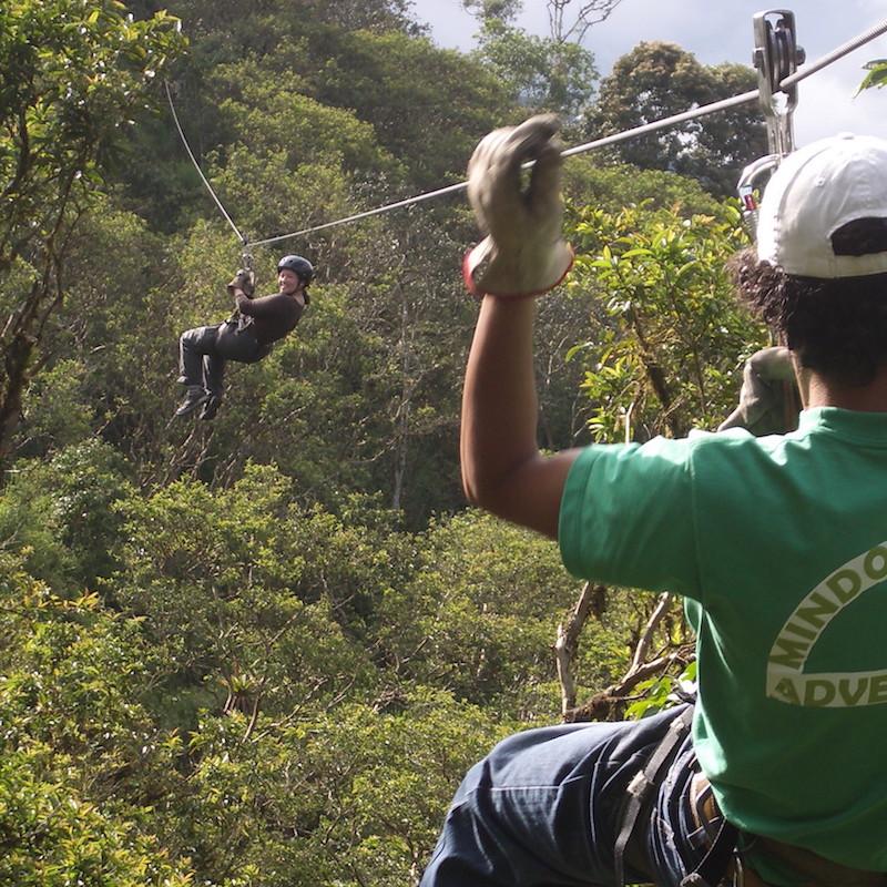 Mindo ziplining tours